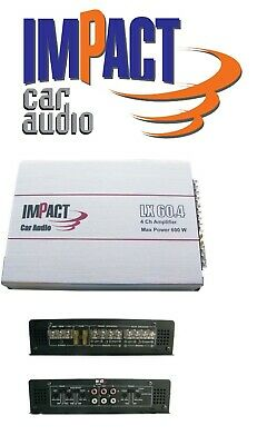 Impact LX60.4 Amplificatore max power 600 W  4 Ohm 4 canali