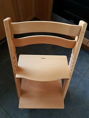Stokke Tripp Trapp Adjustable High Chair Natural Beech 2006 Model Child to Adult