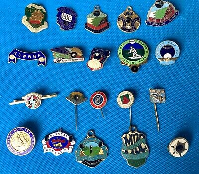 Vintage Collection of 20 Bowling club, enamel badges lot 4a