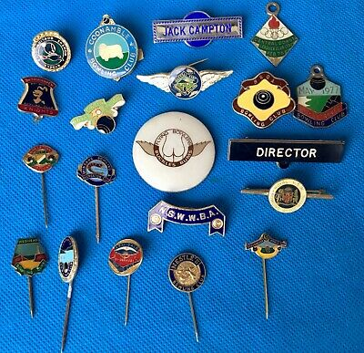 Vintage Collection of 20 Bowling club, enamel badges lot 1a