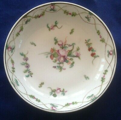 Antique china c1790 NEW HALL tea bowl & saucer unmarked famille rose