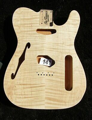 Telecaster, #141, Flame Maple Top/Alder Body/ Thin Line F-Hole.Unfinished