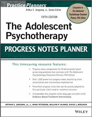 [P-D-F]  The Adolescent Psychotherapy Progress Notes Planner (PracticePlanners)