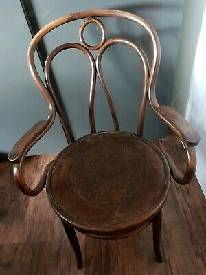 Rare Antique Bentwood Chair (Angel Wings)