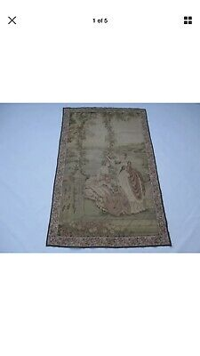Old French / Belgium Tapestry Wall Hanging - 150 x 94 cm