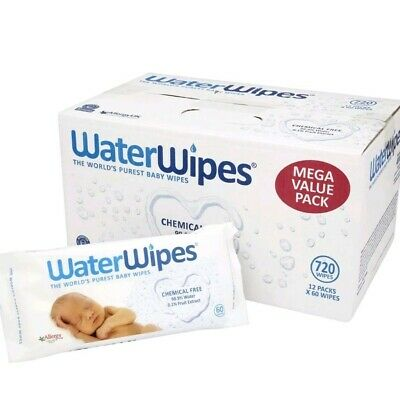 WaterWipes Natural and Sensitive 12 X 60 (720 Wipes)  Baby Wipes