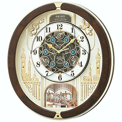 Seiko Clock Wall Clock Analog Melody RE579B Brown F/S w/Tracking# New from Japan