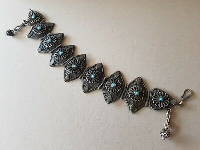 GORGEOUS ANTIQUE jewelry Ottoman Balkans SILVER filigree HANDMADE Bracelet XIXc