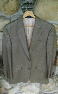 RALPH LAUREN MENS 38R Tan  SILK WOOL cashmire 2 BUTTON BLAZER SPORT COAT