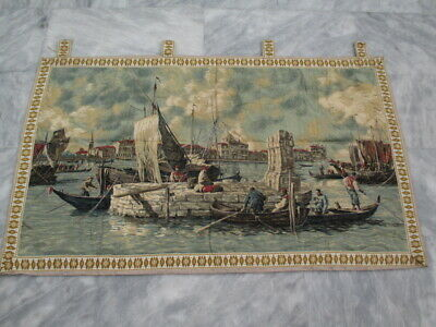5007 - Old French / Belgium Tapestry Wall Hanging - 124 x 73 cm