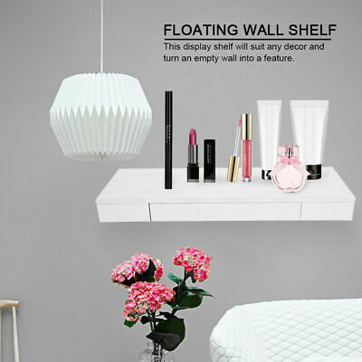 Space Saving Floating Wall Shelves Display Shelf Bookshelf Storage Unit Drawer
