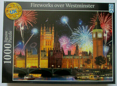 Fireworks Over Westminster Jigsaw Puzzle 1000 Piece ~ New
