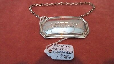 A Superb Large Solid Silver Vintage Sherry Decanter Label HM Sheffield 1984