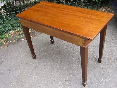 Large Mahogany Side Table with Spade Feet probably George III