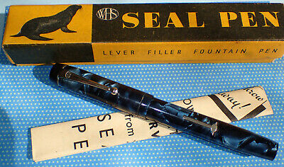 "VINTAGE ""THE SEAL PEN""  c.1935  (CONWAY)  STUNNING BOXED EXAMPLE  / LOOKING MINT"