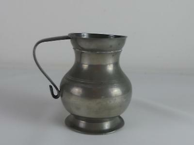 (Ref165CK) Large Antique Pewter Tankard With London X Mark