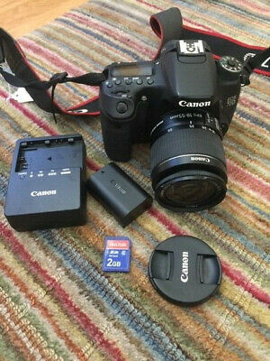 Canon EOS 70D 20.2MP Digital SLR Camera Black EF-S IS II 18-55mm Lens Bundle