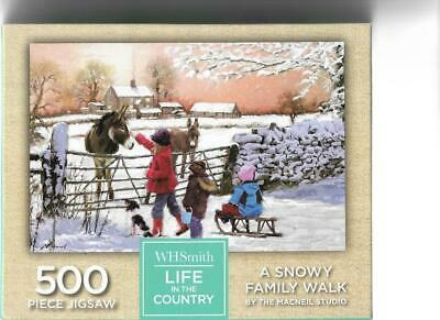 Wh Smith Life In The Country -  500 Piece Jigsaw Puzzle A Snowy Family Walk