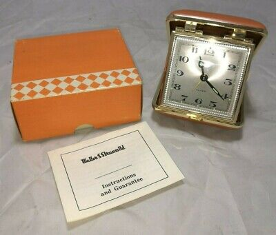 Vintage ~Coral ~Folding Travel Alarm Clock ~New in Box