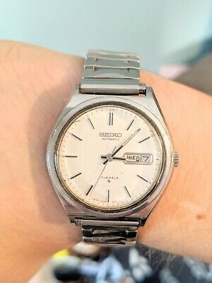 Gents Vintage Seiko Automatic 17 Jewels Day Date 6309 - 800L Watch - Working