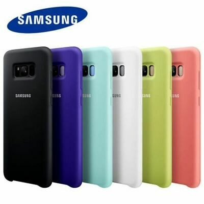 Genuine Official Soft Silicone Case Cover For Samsung Galaxy S10 S9 S8 & Note8 9