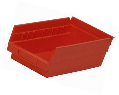 Akro-Mils 30130 12-Inch by 6-Inch by 4-Inch Plastic Nesting Shelf Bin Box, Red,C