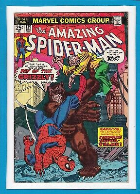 """Amazing Spider-Man #139_December 1974_Fine+_""""day Of The Grizzly""""_Bronze Age!"""