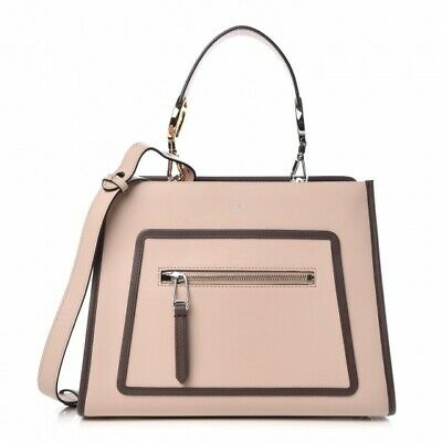 5994d66ad95f Authentic Fendi Runaway Two-Tone Leather Tote Small Pink Bag NWT w  dust bag