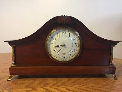 Antique Manoah Rhodes & Son Mantel Clock: French 8 Day Movement: Good Working Or