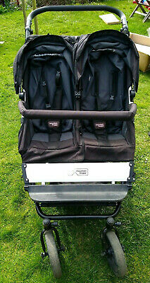 Mountain Buggy Duet Double Buggy Black Standard + carry cot + other accessories