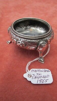 A Superb Solid Silver Victorian Open Pinch Salt by Martin Hall HM Sheffield 1865
