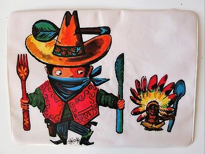 Vintage American Wild West collectible Place/Table mat RARE