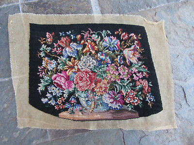 ANTICO RICAMO PICCOLO PUNTO GOBLEN ANTIQUE NEEDLEPOINT PETIT POINT 15 PUNTI A cm