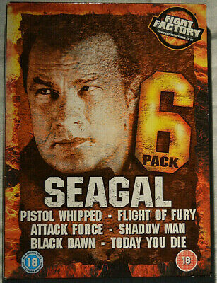 """Fight Factory"" Steven Seagal 6 Pack SIX Film DVD Set Pistol Whipped & More"