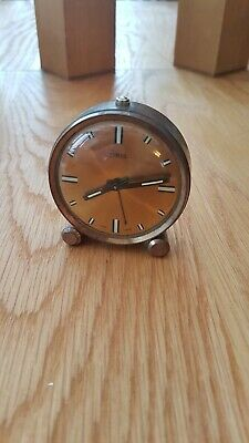 Vintage ORIS Clockwork Travel Alarm Clock - Swiss Made full working order