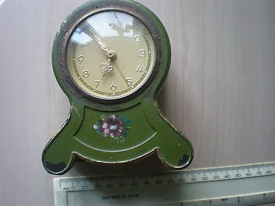 Vintage GERMAN tin mantel clock