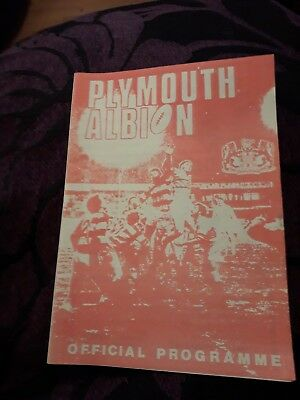 1982-Plymouth Albion-England V Tredegar-Wales-Friendly Rugby Union Programme