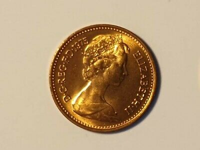 Rare 1975 QEII  HALF NEW PENNY Uncirculated