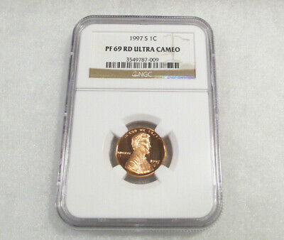 1997 S 1c NGC PF69 RD Ultra Cameo Abraham Lincoln Certified NGC Proof