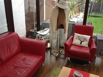 DFS Leather Sofa And A Chair