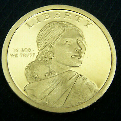 Proof 2018-S Sacagawea Native American Golden Dollar Coin Free Ship