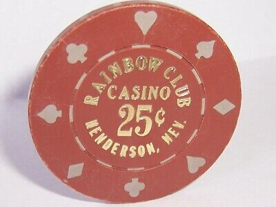 Rainbow Club Casino Chips 25 Cent Chip Free Shipping Henderson Nevada