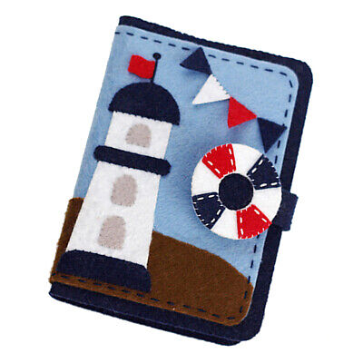 Lighthouse Card Holder Fabric Felt Kits Non-woven Felt Materials Needlework