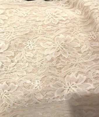 Old Net Lace Yardage Crafts New Old Stock Ecru 38 X 120 In.( 3 Yds. +)
