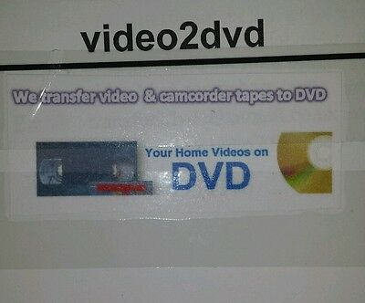 VHS TAPE TO DVD TRANSFER SERVICE (We convert  VHS,  MINI DV, 8MM, Hi8 to DVD)