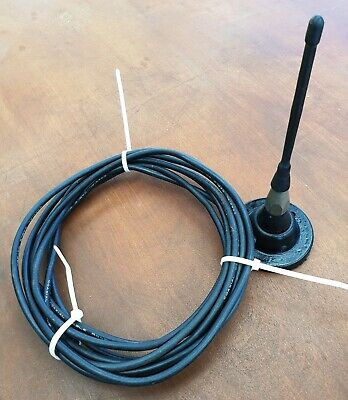 Magnet base 1/4 wave UHF CB antenna, lead and plug