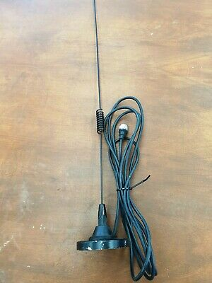 Magnet base stainless steel UHF CB antenna, lead and plug