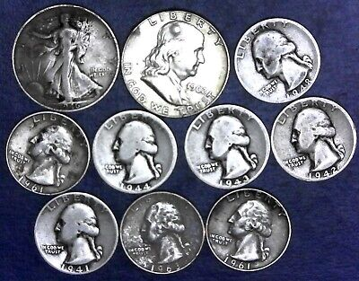 "Lot: $3.00 Face Value 90% Silver U.S Coins, ""Junk Silver"", pre-1965 - No Reserve"
