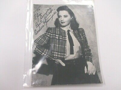 """BARBARA STANWYCK Autographed HAND SIGNED 11"""" X 14"""" Hollywood Movie Photo"""
