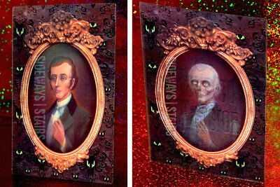 THE HAUNTED MANSION LENTICULAR POSTCARD ghost portrait rare retired Disney art